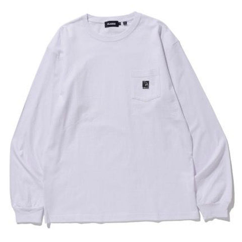 XLARGE - L/S Pocket Tee Square OG - White