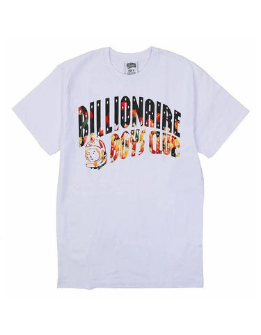 BILLIONAIRE BOYS CLUB - BB FLORAL ARCH TEE - WHITE