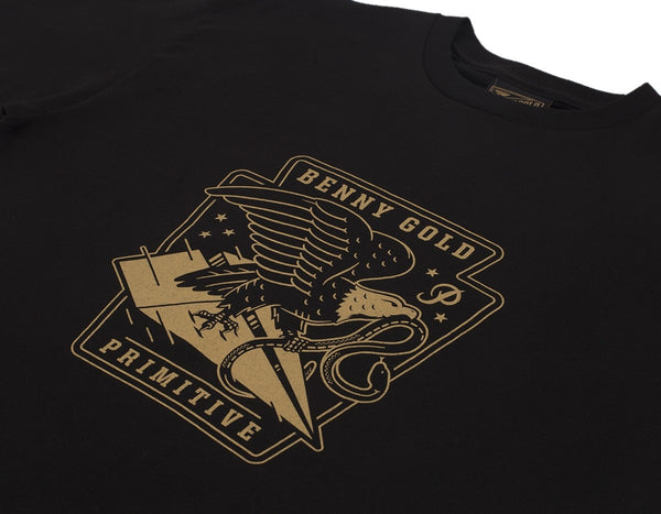 Benny Gold - BG X Primitive Eagle Tee - Black