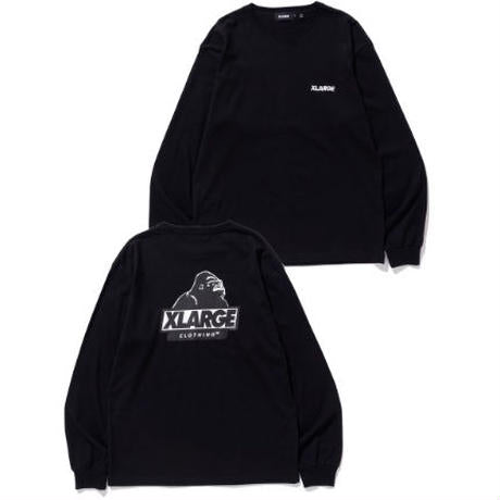 XLARGE - L/S Tee Backside Slanted OG - Black
