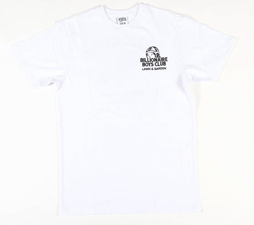 BILLIONAIRE BOYS CLUB - BB LAWN CARE TEE - WHITE