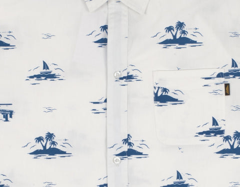 Benny Gold - Florida Sunset Button Shirt - White