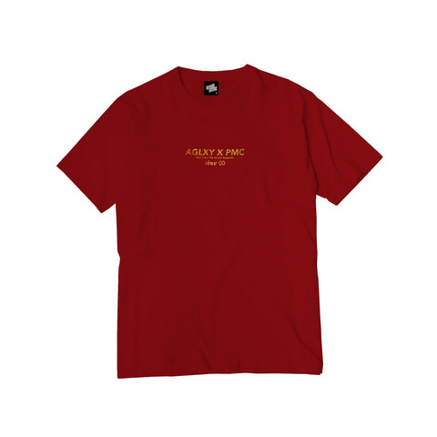 AGELESS GALAXY - STRAITS TEE - BURGUNDY