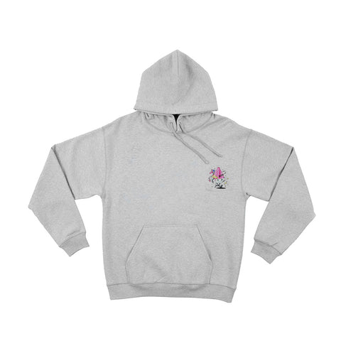 AGELESS GALAXY - ES KRIM HOODIE - HEATHER GREY