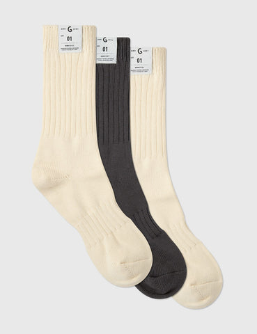 GROCERY - 3 Pack Socks - Multi