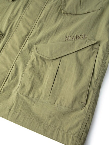 XLarge - Zipped Military Jacket - Olive