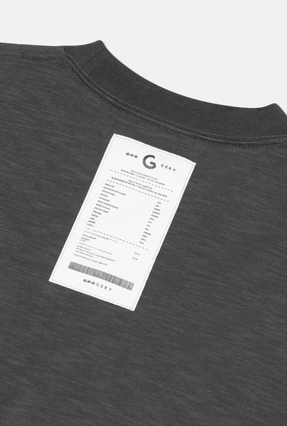 GROCERY - Invoice Long Sleeve Top - Charcoal