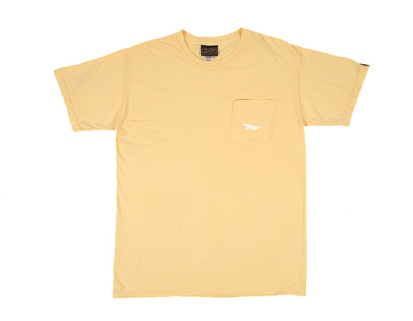 Benny Gold - Paper Plane Garment Dyed Pocket Tee - Yellow