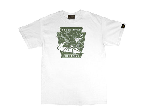 Benny Gold - BG X Primitive Eagle Tee - White