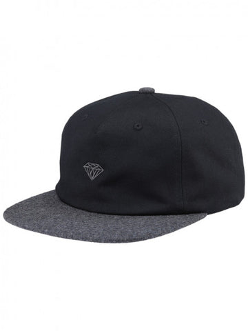 Diamond Supply Co - Micro 2 Tone Brilliant Snapback - Black