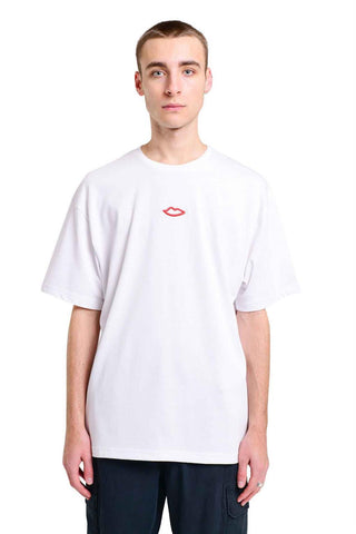 Luv Back Print Oversized Tee - White