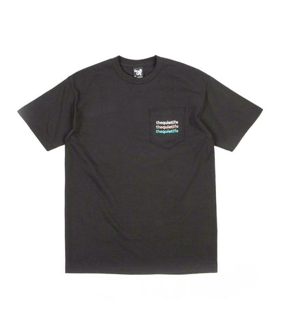 The Quiet Life - Origin Rainbow Pocket Tee - Black