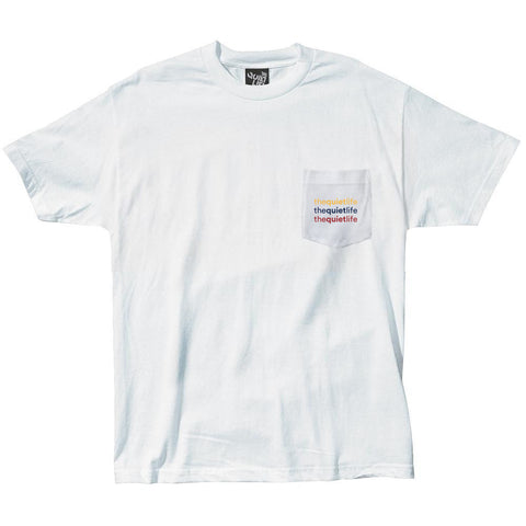 The Quiet Life - Origin Rainbow Pocket Tee - White