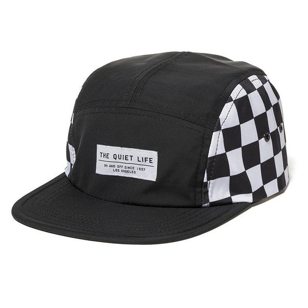 The Quiet Life - Checker 5 Panel Camper Hat - Black