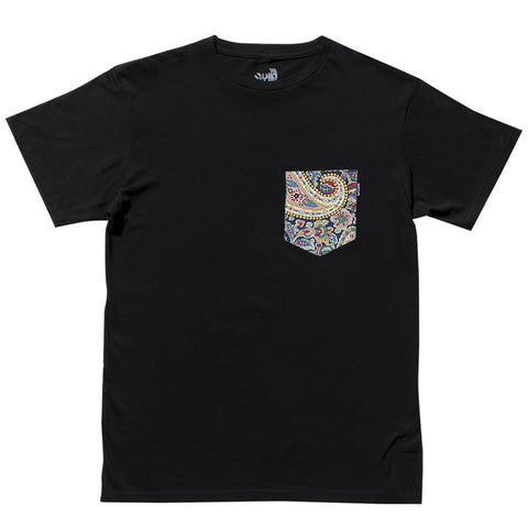 The Quiet Life - Paisley Pocket Tee - Black