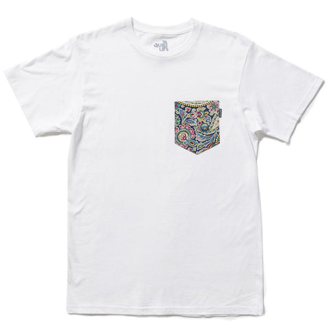 The Quiet Life - Paisley Pocket Tee - White