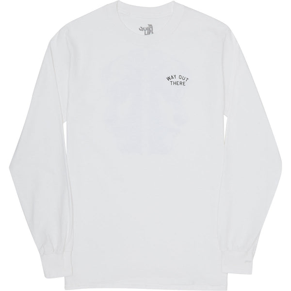 The Quiet Life - Way Out There Long Sleeve Tee - White