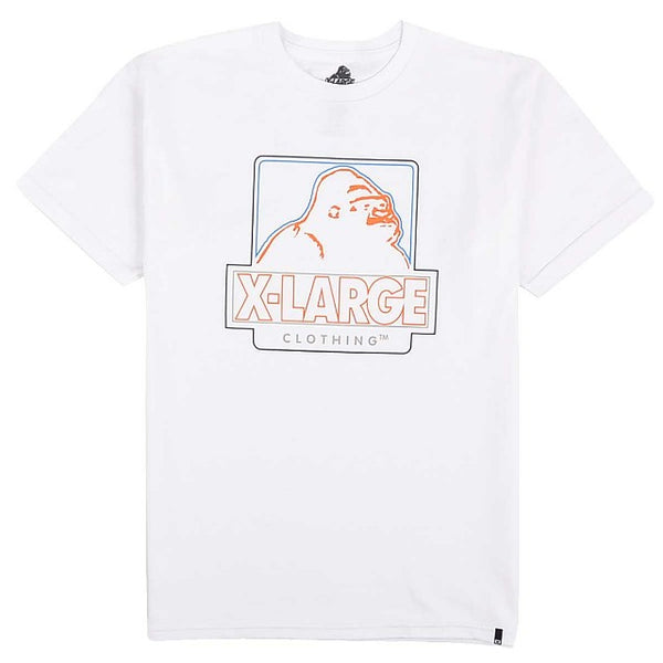 XLARGE - CENTRAL SS TEE - WHITE