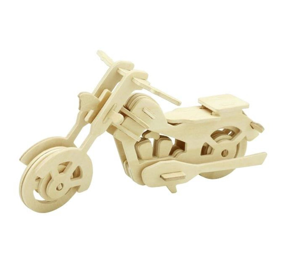 Hands Craft 3D Wooden Puzzle - Motorcycle