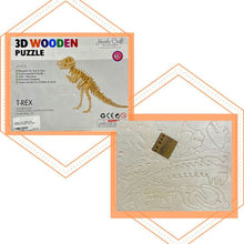 Load image into Gallery viewer, Hands Craft 3D Wooden Puzzle - T-Rex Dino