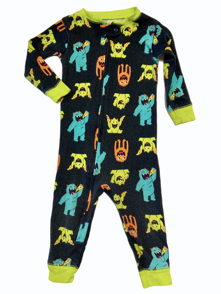 Carter's Monster Pizza Party Zip PJs (6-9mo)