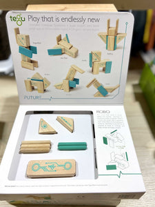Tegu Magnetic Wooden Blocks- Robo Kit