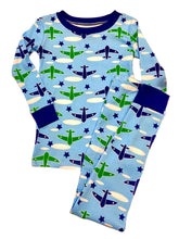 Load image into Gallery viewer, NewJammies Organic Cotton Airplane Pj's