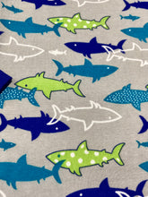 Load image into Gallery viewer, NewJammies Organic Cotton Sharks Pj's