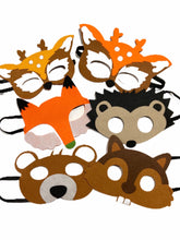 Load image into Gallery viewer, Felt Dress Up & Play Woodland Critter Masks