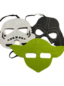 Space Battle Warriors Felted Costume Masks