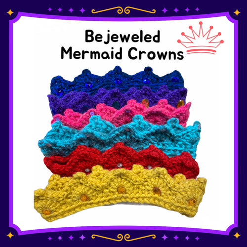 Bejeweled Mermaid Crowns
