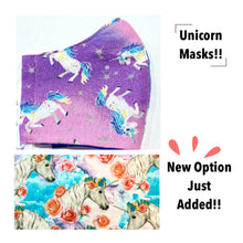 Load image into Gallery viewer, Cloth Face Mask- Unicorns