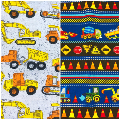 Cloth Face Mask- Construction Trucks