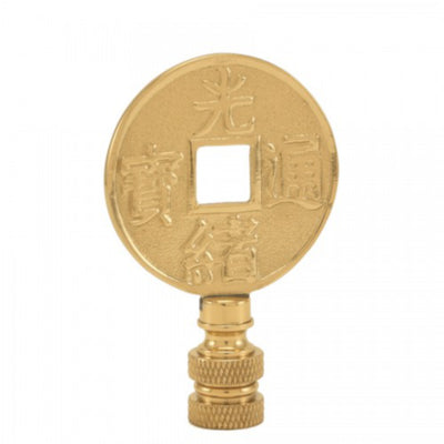 Good Fortune Brass Finial