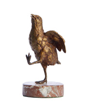 Antique Bronze Figure on Marble Base Chick