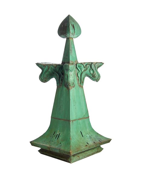 Pair Architectural Copper Building Finials