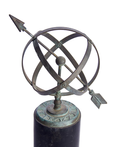 Armillary Miniature Bronze on Wood Stand