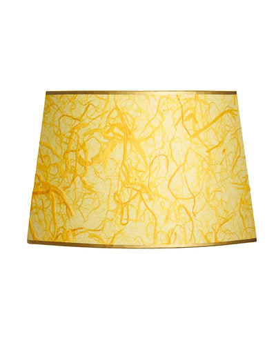 Cut Oval Kozo Daffodil Yellow Lampshade