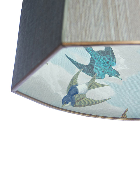 Cut Oval Swallows in Blue Swallow by John Darian