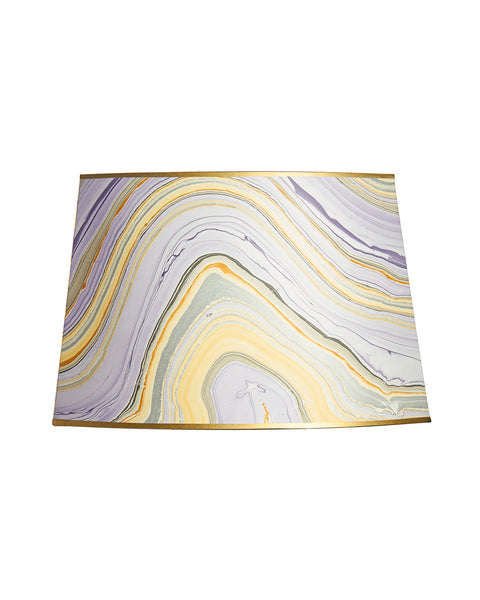 Cut Oval Thai Marble Paper Lampshade