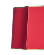 Desk Keystone Oval Mystique Red with Gold Interior and Gold Tape