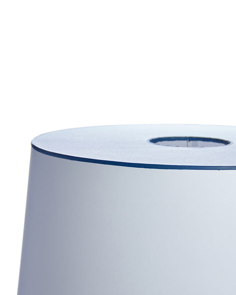 Classic Drum Aquarelle White with Blue Trim