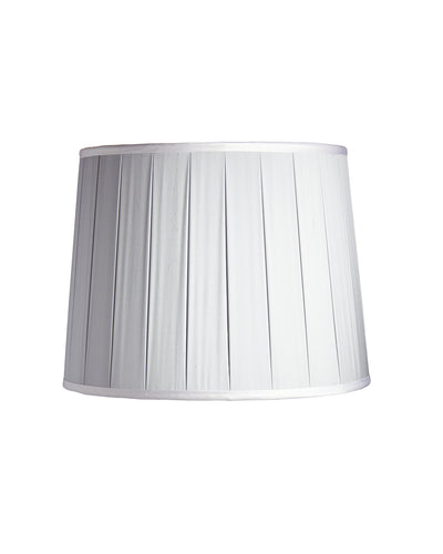 Drum with two Inch Closed Box Pleat Lampshade