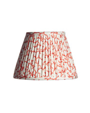 Empire Coral Red Knife Pleat Lampshade