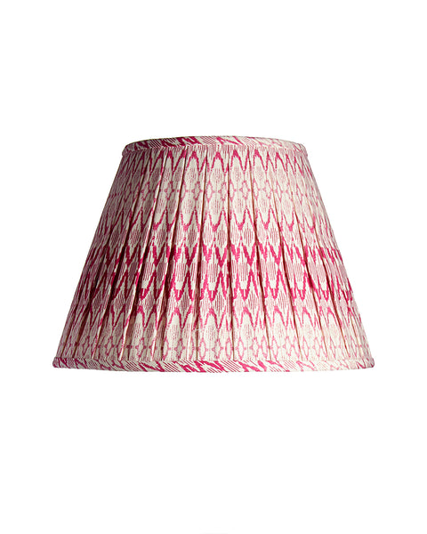 Empire Ikat Red and White Open Box Pleat Lampshade