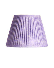 Empire Lavender Knife Pleat Marble Cotton Lampshade