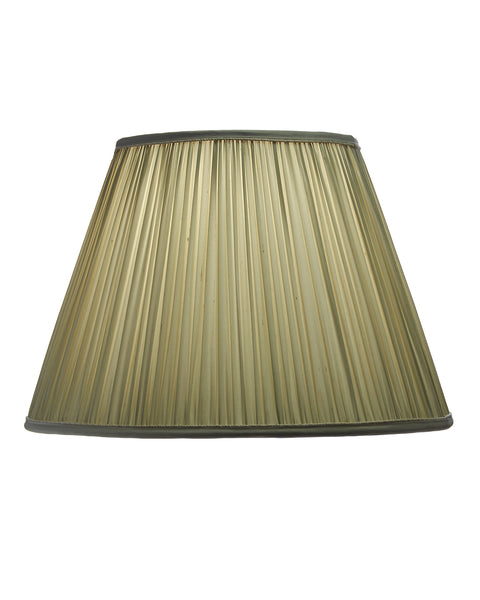 Empire Shirred Pleat Light Sage Lampshade Couture