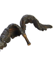 Tie Back Bronze Feather Lamp Finial