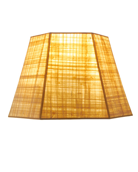 Hexagonal Papyrus Paneled Banana Paper Lampshade