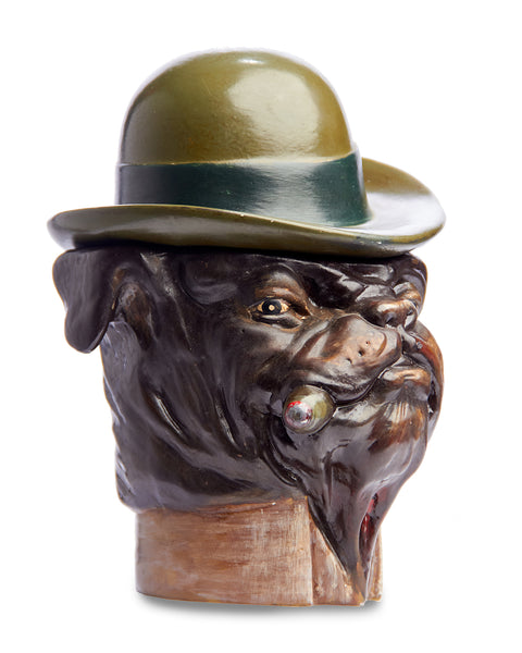 Humidor Bull Dog and Bowler Hat with Stogie bottom